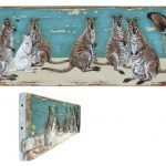 Kangaroos – on commission – 46 x 13 cm