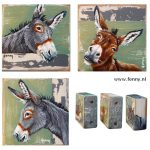 Donkey series nr.1, 2 & 3 – à 7 x 7 cm – all sold