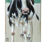 Koe op luik – 46 x 100 cm – 700 euro