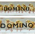 Domino 1 & 2 – v.a. 15 x 4 cm – à €.65,-