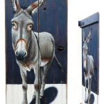 Grey donkey on a chest lid – 76 x 33 cm – sold