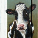 Cow on a shutter – 48 x 80 cm – sold