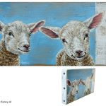 Spring series lamb – 21 x 11 cm – sold