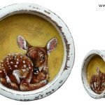 Spring series roe calf – diam. 10 cm – sold